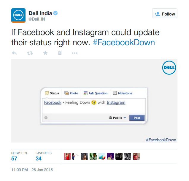 Hashtag Marketing During Facebookdown