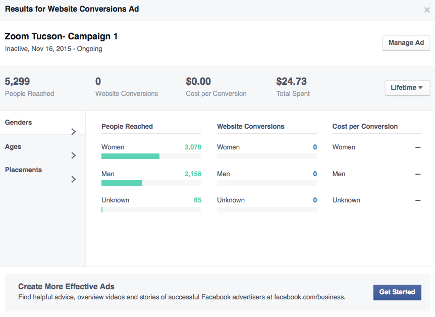 FB Website Conversions